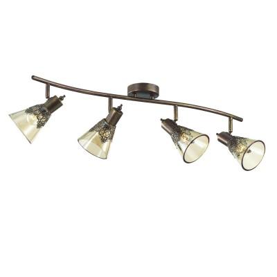 Потолочный светильник Favourite 1795-4U Gumbataспоты 4 лампы<br>Выбирая модель светильника Favourite 1795-4U, обратите внимание, что каркас коричневого цвета с золотой патиной, декоративный узор из металла на плафоне, плафон из прозрачного стекла коньячного оттенка. Дополнительная информация в характеристиках или по телефону.<br><br>Тип цоколя: E14<br>Количество ламп: 4<br>Ширина, мм: 775<br>Размеры: W775*H180*D180<br>Длина, мм: 180<br>Высота, мм: 180<br>Общая мощность, Вт: 40W