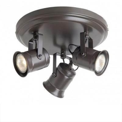 Светильник Brilliant G05734/20 Cap черныйТройные<br>Зачастую мы ищем идеальное освещение для своего дома и уделяем этому достаточно много времени. Так, например, если нам нужен светильник с количеством ламп - 3 и цвет плафонов должен быть - шоколадный, а материал плафонов только металл! То нам, как вариант, подойдет модель - система спотов Brilliant G05734/20.<br><br>S освещ. до, м2: 10<br>Тип лампы: галогенная / LED-светодиодная<br>Тип цоколя: GU10<br>Цвет арматуры: черный<br>Количество ламп: 3<br>Диаметр, мм мм: 240<br>Выступ, мм: 160<br>Высота, мм: 160<br>MAX мощность ламп, Вт: 50