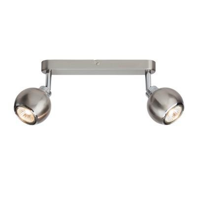 Светильник потолочный Brilliant G07713/77 Inaдвойные светильники споты<br>Светильники-споты – это оригинальные изделия с современным дизайном. Они позволяют не ограничивать свою фантазию при выборе освещения для интерьера. Такие модели обеспечивают достаточно качественный свет. Благодаря компактным размерам Вы можете использовать несколько спотов для одного помещения.  Интернет-магазин «Светодом» предлагает необычный светильник-спот Brilliant G07713/77 по привлекательной цене. Эта модель станет отличным дополнением к люстре, выполненной в том же стиле. Перед оформлением заказа изучите характеристики изделия.  Купить светильник-спот Brilliant G07713/77 в нашем онлайн-магазине Вы можете либо с помощью формы на сайте, либо по указанным выше телефонам. Обратите внимание, что у нас склады не только в Москве и Екатеринбурге, но и других городах России.<br><br>Тип лампы: галогенная/LED<br>Тип цоколя: GU10<br>Цвет арматуры: серебристый<br>Ширина, мм: 110<br>Длина, мм: 255<br>Высота, мм: 140