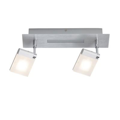 Светильник настенный LED Brilliant G30329/13 PlaxicoДвойные<br>Светильники-споты – это оригинальные изделия с современным дизайном. Они позволяют не ограничивать свою фантазию при выборе освещения для интерьера. Такие модели обеспечивают достаточно качественный свет. Благодаря компактным размерам Вы можете использовать несколько спотов для одного помещения.  Интернет-магазин «Светодом» предлагает необычный светильник-спот Brilliant G30329/13 по привлекательной цене. Эта модель станет отличным дополнением к люстре, выполненной в том же стиле. Перед оформлением заказа изучите характеристики изделия.  Купить светильник-спот Brilliant G30329/13 в нашем онлайн-магазине Вы можете либо с помощью формы на сайте, либо по указанным выше телефонам. Обратите внимание, что у нас склады не только в Москве и Екатеринбурге, но и других городах России.<br><br>S освещ. до, м2: 4<br>Тип лампы: LED<br>Тип цоколя: LED<br>Цвет арматуры: серебристый<br>Количество ламп: 2x5W<br>Ширина, мм: 150<br>Длина, мм: 700<br>Высота, мм: 150