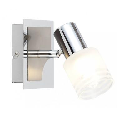 Светильник настенный Brilliant G32410/77 LeaОдиночные<br><br><br>Тип товара: Светильник поворотный спот<br>Тип лампы: накал-я - энергосбер-я<br>Тип цоколя: G9<br>Ширина, мм: 110<br>MAX мощность ламп, Вт: 3<br>Расстояние от стены, мм: 140<br>Высота, мм: 110<br>Цвет арматуры: серебристый
