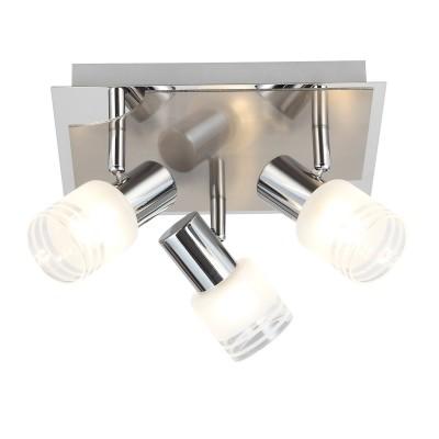 Светильник настенный Brilliant G32434/77 LeaПоворотные<br><br><br>Установка на натяжной потолок: Ограничено<br>Крепление: Планка<br>Тип товара: Светильник поворотный спот<br>Тип лампы: накал-я - энергосбер-я<br>Тип цоколя: G9<br>Ширина, мм: 250<br>MAX мощность ламп, Вт: 3<br>Длина, мм: 250<br>Высота, мм: 140<br>Цвет арматуры: серебристый