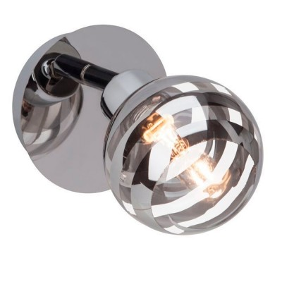 Светильник потолочный Brilliant G34410/15 TheronОдиночные<br><br><br>Тип товара: Светильник поворотный спот<br>Тип лампы: галогенная/LED<br>Тип цоколя: G9<br>Количество ламп: 1<br>Ширина, мм: 110<br>MAX мощность ламп, Вт: 33<br>Расстояние от стены, мм: 170<br>Высота, мм: 110<br>Цвет арматуры: серебристый