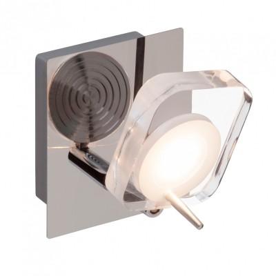 Светильник настенный Brilliant G34610/15 NarcissaОдиночные<br>Светильники-споты – это оригинальные изделия с современным дизайном. Они позволяют не ограничивать свою фантазию при выборе освещения для интерьера. Такие модели обеспечивают достаточно качественный свет. Благодаря компактным размерам Вы можете использовать несколько спотов для одного помещения.  Интернет-магазин «Светодом» предлагает необычный светильник-спот Brilliant G34610/15 по привлекательной цене. Эта модель станет отличным дополнением к люстре, выполненной в том же стиле. Перед оформлением заказа изучите характеристики изделия.  Купить светильник-спот Brilliant G34610/15 в нашем онлайн-магазине Вы можете либо с помощью формы на сайте, либо по указанным выше телефонам. Обратите внимание, что у нас склады не только в Москве и Екатеринбурге, но и других городах России.<br><br>Цветовая t, К: 3000<br>Тип лампы: LED<br>Тип цоколя: LED<br>Количество ламп: 1<br>Ширина, мм: 90<br>MAX мощность ламп, Вт: 5<br>Расстояние от стены, мм: 145<br>Высота, мм: 110<br>Цвет арматуры: серебристый