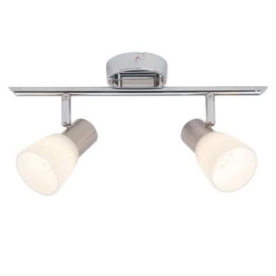 Светильник потолочный Brilliant G46113/77 JannaДвойные<br>Светильники-споты – это оригинальные изделия с современным дизайном. Они позволяют не ограничивать свою фантазию при выборе освещения для интерьера. Такие модели обеспечивают достаточно качественный свет. Благодаря компактным размерам Вы можете использовать несколько спотов для одного помещения.  Интернет-магазин «Светодом» предлагает необычный светильник-спот Brilliant G46113/77 по привлекательной цене. Эта модель станет отличным дополнением к люстре, выполненной в том же стиле. Перед оформлением заказа изучите характеристики изделия.  Купить светильник-спот Brilliant G46113/77 в нашем онлайн-магазине Вы можете либо с помощью формы на сайте, либо по указанным выше телефонам. Обратите внимание, что у нас склады не только в Москве и Екатеринбурге, но и других городах России.<br><br>S освещ. до, м2: 3<br>Цветовая t, К: 2800<br>Тип лампы: LED<br>Тип цоколя: LED<br>Цвет арматуры: серебристый<br>Количество ламп: 2<br>Ширина, мм: 140<br>Длина, мм: 380<br>Высота, мм: 180<br>MAX мощность ламп, Вт: 3