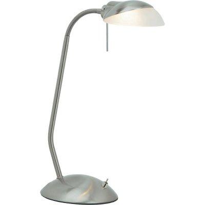 Лампа настольная Brilliant G92908/13 PERCYОфисные<br>Зачастую мы ищем идеальное освещение для своего дома и уделяем этому достаточно много времени. Так, например, если нам нужен светильник с количеством ламп - 1 и цвет плафонов должен быть - белый, а материал плафонов только стекло! То нам, как вариант, подойдет модель - лампа настольная Brilliant G92908/13.<br><br>S освещ. до, м2: 1<br>Тип лампы: галогенная / LED-светодиодная<br>Тип цоколя: G9<br>Количество ламп: 1<br>MAX мощность ламп, Вт: 28<br>Высота, мм: 430<br>Цвет арматуры: серебристый