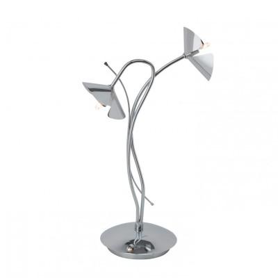 Лампа настольная Brilliant G92985/15 SiciliaФлористика<br>Настольная лампа – это не просто источник дополнительного освещения, но и оригинальный элемент декора. Его можно установить в спальне, гостиной, кабинете и других комнатах. Интернет-магазин «Светодом» предлагает настольные лампы разных стилей по доступным ценам. Благодаря большому ассортименту Вы обязательно найдете в нашем каталоге именно ту модель, которую искали.   Настольная лампа Brilliant G92985/15 – прекрасный вариант для завершения интерьера. Ее можно включить одновременно с люстрой для более яркого освещения или без нее для создания уютной атмосферы, настраивающей на отдых.   Купить настольную лампу Brilliant G92985/15 Вы можете с помощью виртуальной «Корзины» или по контактным номерам, указанным на сайте.<br><br>Тип лампы: галогенная<br>Тип цоколя: G4<br>Количество ламп: 2<br>MAX мощность ламп, Вт: 20<br>Диаметр, мм мм: 240<br>Высота, мм: 390<br>Цвет арматуры: серебристый хром