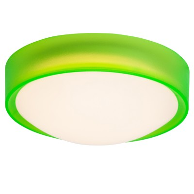 Светильник потолочный Brilliant G94224/74 ToniaКруглые<br><br><br>Тип товара: Светильник настенно-потолочный<br>Цветовая t, К: 3000<br>Тип лампы: LED<br>Тип цоколя: LED<br>Количество ламп: 1<br>MAX мощность ламп, Вт: 10W<br>Диаметр, мм мм: 255<br>Высота, мм: 100<br>Цвет арматуры: зеленый