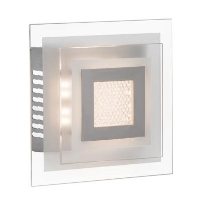 Светильник настенный Brilliant G94316/15 Crystal ClearКвадратные<br>Настенно-потолочные светильники – это универсальные осветительные варианты, которые подходят для вертикального и горизонтального монтажа. В интернет-магазине «Светодом» Вы можете приобрести подобные модели по выгодной стоимости. В нашем каталоге представлены как бюджетные варианты, так и эксклюзивные изделия от производителей, которые уже давно заслужили доверие дизайнеров и простых покупателей.  Настенно-потолочный светильник Brilliant G94316/15 станет прекрасным дополнением к основному освещению. Благодаря качественному исполнению и применению современных технологий при производстве эта модель будет радовать Вас своим привлекательным внешним видом долгое время. Приобрести настенно-потолочный светильник Brilliant G94316/15 можно, находясь в любой точке России.<br><br>S освещ. до, м2: 4<br>Цветовая t, К: 3000<br>Тип лампы: LED<br>Тип цоколя: LED<br>Количество ламп: 1<br>Ширина, мм: 180<br>MAX мощность ламп, Вт: 10<br>Длина, мм: 180<br>Высота, мм: 85<br>Цвет арматуры: серебристый