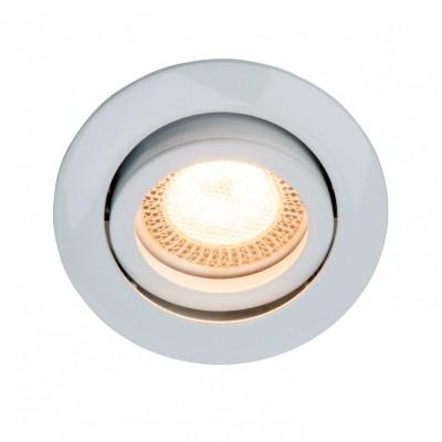 Светильник Brilliant G94649/05 Easy ClipКруглые<br>Встраиваемые светильники – популярное осветительное оборудование, которое можно использовать в качестве основного источника или в дополнение к люстре. Они позволяют создать нужную атмосферу атмосферу и привнести в интерьер уют и комфорт.   Интернет-магазин «Светодом» предлагает стильный встраиваемый светильник Brilliant G94649/05. Данная модель достаточно универсальна, поэтому подойдет практически под любой интерьер. Перед покупкой не забудьте ознакомиться с техническими параметрами, чтобы узнать тип цоколя, площадь освещения и другие важные характеристики.   Приобрести встраиваемый светильник Brilliant G94649/05 в нашем онлайн-магазине Вы можете либо с помощью «Корзины», либо по контактным номерам. Мы развозим заказы по Москве, Екатеринбургу и остальным российским городам.<br><br>Тип лампы: галогенная/LED<br>Тип цоколя: GU10<br>Количество ламп: 1<br>MAX мощность ламп, Вт: 5W<br>Диаметр, мм мм: 84<br>Высота, мм: 5<br>Цвет арматуры: белый