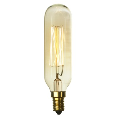 Ретро лампа Loft GF-E-46Ретро лампы<br>В интернет-магазине «Светодом» можно купить не только люстры и светильники, но и лампочки. В нашем каталоге представлены светодиодные, галогенные, энергосберегающие модели и лампы накаливания. В ассортименте имеются изделия разной мощности, поэтому у нас Вы сможете приобрести все необходимое для освещения.   Лампа Loft Loft GF-E-46 обеспечит отличное качество освещения. При покупке ознакомьтесь с параметрами в разделе «Характеристики», чтобы не ошибиться в выборе. Там же указано, для каких осветительных приборов Вы можете использовать лампу Loft Loft GF-E-46Loft Loft GF-E-46.   Для оформления покупки воспользуйтесь «Корзиной». При наличии вопросов Вы можете позвонить нашим менеджерам по одному из контактных номеров. Мы доставляем заказы в Москву, Екатеринбург и другие города России.<br><br>Тип лампы: накаливания<br>Тип цоколя: E14<br>MAX мощность ламп, Вт: 40<br>Диаметр, мм мм: 30<br>Длина, мм: 130