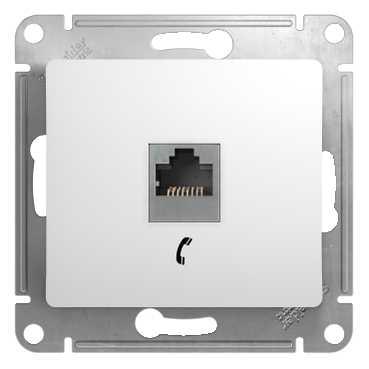 SE Glossa Бел Розетка телефонная RJ11 (GSL000181T)Glossa<br><br><br>Оттенок (цвет): белый
