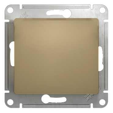 SE Glossa Титан Выключатель 1-клавишный, сх.1 (GSL000411)Glossa<br><br><br>Оттенок (цвет): серебристый