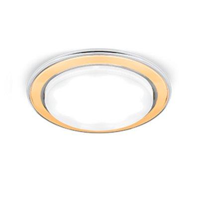 Светильник Gauss Tablet GX101 Хром/Золото, GX53Круглые LED<br>Встраиваемые светильники – популярное осветительное оборудование, которое можно использовать в качестве основного источника или в дополнение к люстре. Они позволяют создать нужную атмосферу атмосферу и привнести в интерьер уют и комфорт.   Интернет-магазин «Светодом» предлагает стильный встраиваемый светильник Gauss Tablet GX101. Данная модель достаточно универсальна, поэтому подойдет практически под любой интерьер. Перед покупкой не забудьте ознакомиться с техническими параметрами, чтобы узнать тип цоколя, площадь освещения и другие важные характеристики.   Приобрести встраиваемый светильник Gauss Tablet GX101 в нашем онлайн-магазине Вы можете либо с помощью «Корзины», либо по контактным номерам. Мы развозим заказы по Москве, Екатеринбургу и остальным российским городам.<br><br>S освещ. до, м2: 1<br>Тип лампы: LED<br>Тип цоколя: GX53<br>Количество ламп: 1<br>MAX мощность ламп, Вт: 25<br>Диаметр, мм мм: 106<br>Диаметр врезного отверстия, мм: 80<br>Высота, мм: 32<br>Цвет арматуры: серебристый