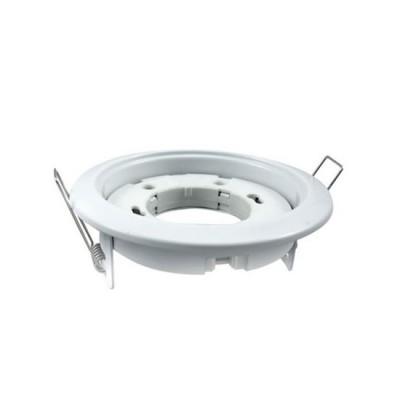 Светильник встраиваемый GX53R-standard под лампу GX53 белыйКруглые<br><br><br>Тип цоколя: GX53<br>Количество ламп: 1
