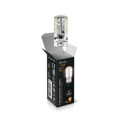 Лампа Gauss LED G4 12V 3W 2700KКапсульные G4 12v<br>В интернет-магазине «Светодом» можно купить не только люстры и светильники, но и лампочки. В нашем каталоге представлены светодиодные, галогенные, энергосберегающие модели и лампы накаливания. В ассортименте имеются изделия разной мощности, поэтому у нас Вы сможете приобрести все необходимое для освещения.   Лампа Gauss SS207707103 LED 12V G4 3W 2700K обеспечит отличное качество освещения. При покупке ознакомьтесь с параметрами в разделе «Характеристики», чтобы не ошибиться в выборе. Там же указано, для каких осветительных приборов Вы можете использовать лампу Gauss SS207707103 LED 12V G4 3W 2700KGauss SS207707103 LED 12V G4 3W 2700K.   Для оформления покупки воспользуйтесь «Корзиной». При наличии вопросов Вы можете позвонить нашим менеджерам по одному из контактных номеров. Мы доставляем заказы в Москву, Екатеринбург и другие города России.<br><br>Цветовая t, К: WW - теплый белый 2700-3000 К<br>Тип лампы: LED - светодиодная<br>Тип цоколя: G4<br>MAX мощность ламп, Вт: 3<br>Диаметр, мм мм: 15<br>Высота, мм: 41