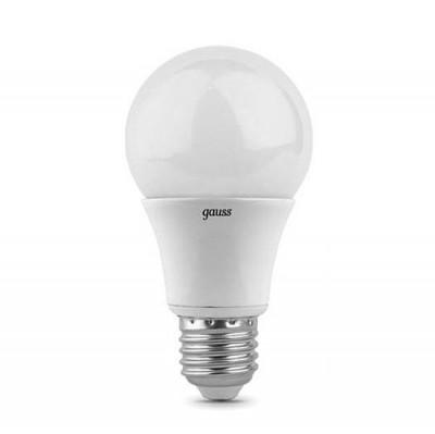 Лампа Gauss 102502107 LED A60 E27 7W 2700KСтандартный вид<br>В интернет-магазине «Светодом» можно купить не только люстры и светильники, но и лампочки. В нашем каталоге представлены светодиодные, галогенные, энергосберегающие модели и лампы накаливания. В ассортименте имеются изделия разной мощности, поэтому у нас Вы сможете приобрести все необходимое для освещения.   Лампа Gauss 102502107 LED A60 E27 7W 2700K обеспечит отличное качество освещения. При покупке ознакомьтесь с параметрами в разделе «Характеристики», чтобы не ошибиться в выборе. Там же указано, для каких осветительных приборов Вы можете использовать лампу Gauss 102502107 LED A60 E27 7W 2700KGauss 102502107 LED A60 E27 7W 2700K.   Для оформления покупки воспользуйтесь «Корзиной». При наличии вопросов Вы можете позвонить нашим менеджерам по одному из контактных номеров. Мы доставляем заказы в Москву, Екатеринбург и другие города России.<br><br>Цветовая t, К: 2700<br>Тип лампы: LED<br>Тип цоколя: E27<br>MAX мощность ламп, Вт: 7<br>Диаметр, мм мм: 60<br>Высота, мм: 122
