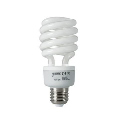 Лампа Gauss 192230 Spiral T3 30W E27 4200KСпиральные<br><br><br>Цветовая t, К: 4200<br>Тип лампы: Энергосбережения<br>Тип цоколя: E27<br>MAX мощность ламп, Вт: 30