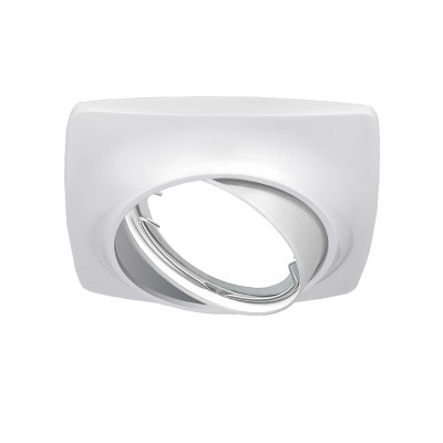 Светильник Gauss Metal Exclusive CA069 Круг. Белый перламутр, Gu5.3Квадратные<br><br><br>Тип лампы: галогенная/LED<br>Тип цоколя: GU5.3<br>Ширина, мм: 90<br>MAX мощность ламп, Вт: 50<br>Длина, мм: 90