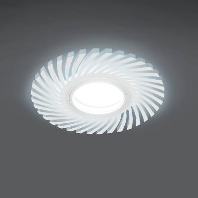 Купить Светильник Gauss Backlight BL133 Кругл./узор. Белый, Gu5.3, 3W, LED 4000K, Китай
