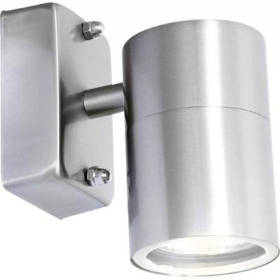 Светильник бра Globo 3201 StyleХай-тек<br><br><br>S освещ. до, м2: 2<br>Тип лампы: галогенная / LED-светодиодная<br>Тип цоколя: GU10<br>Цвет арматуры: серебристый<br>Количество ламп: 1<br>Ширина, мм: 115<br>Диаметр, мм мм: 60<br>Высота, мм: 105<br>MAX мощность ламп, Вт: 35