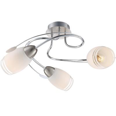 Светильник Globo 54283-3 Bosporusсовременные потолочные люстры модерн<br>Компания «Светодом» предлагает широкий ассортимент люстр от известных производителей. Представленные в нашем каталоге товары выполнены из современных материалов и обладают отличным качеством. Благодаря широкому ассортименту Вы сможете найти у нас люстру под любой интерьер. Мы предлагаем как классические варианты, так и современные модели, отличающиеся лаконичностью и простотой форм.  Стильная люстра Globo 54283-3 станет украшением любого дома. Эта модель от известного производителя не оставит равнодушным ценителей красивых и оригинальных предметов интерьера. Люстра Globo 54283-3 обеспечит равномерное распределение света по всей комнате. При выборе обратите внимание на характеристики, позволяющие приобрести наиболее подходящую модель. Купить понравившуюся люстру по доступной цене Вы можете в интернет-магазине «Светодом».<br><br>Установка на натяжной потолок: Да<br>S освещ. до, м2: 6<br>Крепление: Планка<br>Цветовая t, К: 3000<br>Тип лампы: накаливания / энергосберегающая / светодиодная<br>Тип цоколя: E14<br>Цвет арматуры: серый<br>Количество ламп: 3<br>Диаметр, мм мм: 420<br>Высота, мм: 200<br>Поверхность арматуры: глянцевый<br>MAX мощность ламп, Вт: 40<br>Общая мощность, Вт: 120