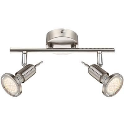 Светильник Globo 54382-2 RailДвойные<br>Светильники-споты – это оригинальные изделия с современным дизайном. Они позволяют не ограничивать свою фантазию при выборе освещения для интерьера. Такие модели обеспечивают достаточно качественный свет. Благодаря компактным размерам Вы можете использовать несколько спотов для одного помещения.  Интернет-магазин «Светодом» предлагает необычный светильник-спот Globo 54382-2 по привлекательной цене. Эта модель станет отличным дополнением к люстре, выполненной в том же стиле. Перед оформлением заказа изучите характеристики изделия.  Купить светильник-спот Globo 54382-2 в нашем онлайн-магазине Вы можете либо с помощью формы на сайте, либо по указанным выше телефонам. Обратите внимание, что у нас склады не только в Москве и Екатеринбурге, но и других городах России.<br><br>S освещ. до, м2: 3<br>Цветовая t, К: 3000<br>Тип лампы: накаливания / энергосберегающая / светодиодная<br>Тип цоколя: GU10 LED<br>Цвет арматуры: серебристый<br>Количество ламп: 2<br>Диаметр, мм мм: 250<br>Высота, мм: 130<br>Поверхность арматуры: матовый, глянцевый<br>MAX мощность ламп, Вт: 3<br>Общая мощность, Вт: 6