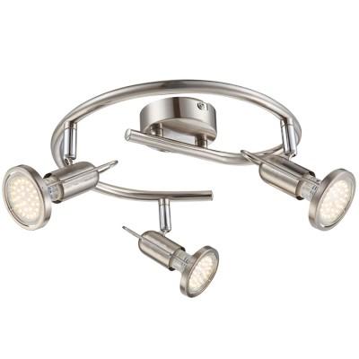 Светильник Globo 54382-3 RailТройные<br>Светильники-споты – это оригинальные изделия с современным дизайном. Они позволяют не ограничивать свою фантазию при выборе освещения для интерьера. Такие модели обеспечивают достаточно качественный свет. Благодаря компактным размерам Вы можете использовать несколько спотов для одного помещения. <br>Интернет-магазин «Светодом» предлагает необычный светильник-спот Globo 54382-3 по привлекательной цене. Эта модель станет отличным дополнением к люстре, выполненной в том же стиле. Перед оформлением заказа изучите характеристики изделия. <br>Купить светильник-спот Globo 54382-3 в нашем онлайн-магазине Вы можете либо с помощью формы на сайте, либо по указанным выше телефонам. Обратите внимание, что у нас склады не только в Москве и Екатеринбурге, но и других городах России.<br><br>S освещ. до, м2: 4<br>Цветовая t, К: 3000<br>Тип лампы: накаливания / энергосберегающая / светодиодная<br>Тип цоколя: GU10 LED<br>Цвет арматуры: серый<br>Количество ламп: 3<br>Диаметр, мм мм: 380<br>Высота, мм: 130<br>Поверхность арматуры: матовый, глянцевый<br>MAX мощность ламп, Вт: 3<br>Общая мощность, Вт: 9