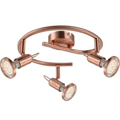 Светильник Globo 54383-3 Anneтройные споты<br>Светильники-споты – это оригинальные изделия с современным дизайном. Они позволяют не ограничивать свою фантазию при выборе освещения для интерьера. Такие модели обеспечивают достаточно качественный свет. Благодаря компактным размерам Вы можете использовать несколько спотов для одного помещения.  Интернет-магазин «Светодом» предлагает необычный светильник-спот Globo 54383-3 по привлекательной цене. Эта модель станет отличным дополнением к люстре, выполненной в том же стиле. Перед оформлением заказа изучите характеристики изделия.  Купить светильник-спот Globo 54383-3 в нашем онлайн-магазине Вы можете либо с помощью формы на сайте, либо по указанным выше телефонам. Обратите внимание, что у нас склады не только в Москве и Екатеринбурге, но и других городах России.<br><br>S освещ. до, м2: 4<br>Цветовая t, К: 3000<br>Тип лампы: накаливания / энергосберегающая / светодиодная<br>Тип цоколя: GU10 LED<br>Цвет арматуры: желтый<br>Количество ламп: 3<br>Диаметр, мм мм: 380<br>Высота, мм: 130<br>Поверхность арматуры: матовый<br>MAX мощность ламп, Вт: 3<br>Общая мощность, Вт: 9