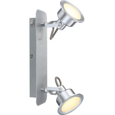 Светильник Globo 56954-2 LindseyДвойные<br><br><br>Тип товара: Светильник поворотный спот<br>Скидка, %: 78<br>Цветовая t, К: 3000<br>Тип лампы: накаливания / энергосберегающая / светодиодная<br>Тип цоколя: LED<br>Количество ламп: 2<br>Ширина, мм: 165<br>MAX мощность ламп, Вт: 5<br>Длина, мм: 80<br>Высота, мм: 320<br>Поверхность арматуры: матовый<br>Цвет арматуры: серый<br>Общая мощность, Вт: 10