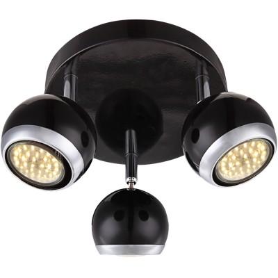 Светильник Globo 57884-3 OmanТройные<br>Светильники-споты – это оригинальные изделия с современным дизайном. Они позволяют не ограничивать свою фантазию при выборе освещения для интерьера. Такие модели обеспечивают достаточно качественный свет. Благодаря компактным размерам Вы можете использовать несколько спотов для одного помещения. <br>Интернет-магазин «Светодом» предлагает необычный светильник-спот Globo 57884-3 по привлекательной цене. Эта модель станет отличным дополнением к люстре, выполненной в том же стиле. Перед оформлением заказа изучите характеристики изделия. <br>Купить светильник-спот Globo 57884-3 в нашем онлайн-магазине Вы можете либо с помощью формы на сайте, либо по указанным выше телефонам. Обратите внимание, что у нас склады не только в Москве и Екатеринбурге, но и других городах России.<br><br>Цветовая t, К: 3000<br>Тип лампы: накаливания / энергосберегающая / светодиодная<br>Тип цоколя: GU10<br>Количество ламп: 3<br>MAX мощность ламп, Вт: 3<br>Диаметр, мм мм: 180<br>Высота, мм: 130<br>Поверхность арматуры: матовый, глянцевый<br>Цвет арматуры: серебристый<br>Общая мощность, Вт: 9