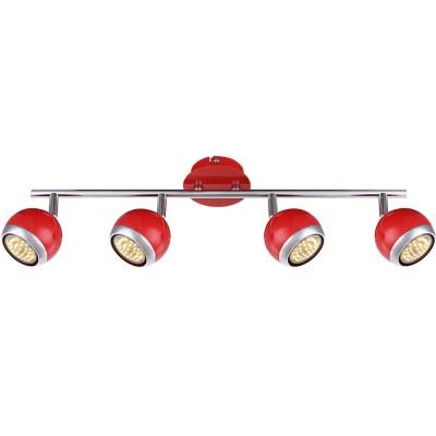 Светильник Globo 57885-4 OmanС 4 лампами<br>Светильники-споты – это оригинальные изделия с современным дизайном. Они позволяют не ограничивать свою фантазию при выборе освещения для интерьера. Такие модели обеспечивают достаточно качественный свет. Благодаря компактным размерам Вы можете использовать несколько спотов для одного помещения.  Интернет-магазин «Светодом» предлагает необычный светильник-спот Globo 57885-4 по привлекательной цене. Эта модель станет отличным дополнением к люстре, выполненной в том же стиле. Перед оформлением заказа изучите характеристики изделия.  Купить светильник-спот Globo 57885-4 в нашем онлайн-магазине Вы можете либо с помощью формы на сайте, либо по указанным выше телефонам. Обратите внимание, что мы предлагаем доставку не только по Москве и Екатеринбургу, но и всем остальным российским городам.<br><br>Цветовая t, К: 3000<br>Тип лампы: накаливания / энергосберегающая / светодиодная<br>Тип цоколя: GU10<br>Количество ламп: 4<br>MAX мощность ламп, Вт: 3<br>Диаметр, мм мм: 550<br>Высота, мм: 150<br>Поверхность арматуры: матовый, глянцевый<br>Цвет арматуры: серебристый<br>Общая мощность, Вт: 12