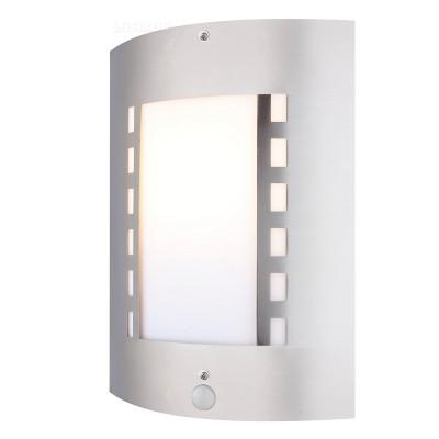 Светильник Globo 3156 OrLandoНастенные<br><br><br>Тип товара: Светильник уличный<br>Скидка, %: 21<br>Тип лампы: накал-я - энергосбер-я<br>Тип цоколя: E27<br>Количество ламп: 1<br>Ширина, мм: 92<br>MAX мощность ламп, Вт: 60<br>Длина, мм: 230<br>Высота, мм: 290<br>Цвет арматуры: серебристый