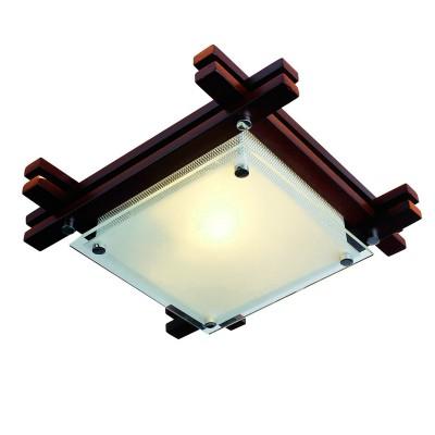 Светильник квадратный Globo 48324 венге EdisonКвадратные<br>Настенно потолочный светильник Globo (Глобо) 48324 подходит как для установки в вертикальном положении - на стены, так и для установки в горизонтальном - на потолок. Для установки настенно потолочных светильников на натяжной потолок необходимо использовать светодиодные лампы LED, которые экономнее ламп Ильича (накаливания) в 10 раз, выделяют мало тепла и не дадут расплавиться Вашему потолку.<br><br>S освещ. до, м2: 4<br>Тип лампы: накаливания / энергосбережения / LED-светодиодная<br>Тип цоколя: E27 ILLU<br>Цвет арматуры: деревянный<br>Количество ламп: 1<br>Ширина, мм: 270<br>Длина, мм: 270<br>Высота, мм: 85<br>MAX мощность ламп, Вт: 60