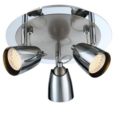 Светильник Globo 57604-3 TamasТройные<br><br><br>S освещ. до, м2: 10<br>Тип товара: Светильник поворотный спот<br>Скидка, %: 67<br>Тип лампы: галогенная / LED-светодиодная<br>Тип цоколя: GU10<br>Количество ламп: 3<br>Ширина, мм: 250<br>MAX мощность ламп, Вт: 50<br>Длина, мм: 250<br>Высота, мм: 150<br>Цвет арматуры: серебристый