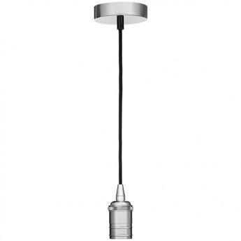 Ретро патрон со шнуром Globo A15одиночные подвесные светильники<br><br><br>S освещ. до, м2: 3<br>Тип лампы: Накаливания / энергосбережения / светодиодная<br>Тип цоколя: E27<br>Цвет арматуры: хром серебристый<br>Количество ламп: 1<br>Диаметр, мм мм: 100<br>MAX мощность ламп, Вт: 60