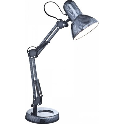 Светильник настольный Globo 24892 CarbonОфисные<br>Настольная лампа – это не просто источник дополнительного освещения, но и оригинальный элемент декора. Его можно установить в спальне, гостиной, кабинете и других комнатах. Интернет-магазин «Светодом» предлагает настольные лампы разных стилей по доступным ценам. Благодаря большому ассортименту Вы обязательно найдете в нашем каталоге именно ту модель, которую искали.   Настольная лампа Globo 24892 – прекрасный вариант для завершения интерьера. Ее можно включить одновременно с люстрой для более яркого освещения или без нее для создания уютной атмосферы, настраивающей на отдых.   Купить настольную лампу Globo 24892 Вы можете с помощью виртуальной «Корзины» или по контактным номерам, указанным на сайте.<br><br>S освещ. до, м2: 2<br>Тип лампы: накал-я - энергосбер-я<br>Тип цоколя: E27<br>Цвет арматуры: серебристый<br>Количество ламп: 1<br>Ширина, мм: 240<br>Диаметр, мм мм: 155<br>Длина, мм: 240<br>Высота, мм: 590<br>Оттенок (цвет): карбон,глянцевый<br>MAX мощность ламп, Вт: 40