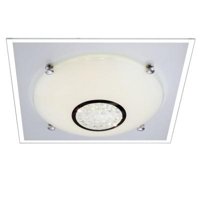 Светильник светодиодный 12Вт Globo 48250 Amadaкруглые светильники<br>Компания «Светодом» предлагает широкий ассортимент люстр от известных производителей. Представленные в нашем каталоге товары выполнены из современных материалов и обладают отличным качеством. Благодаря широкому ассортименту Вы сможете найти у нас люстру под любой интерьер. Мы предлагаем как классические варианты, так и современные модели, отличающиеся лаконичностью и простотой форм. <br>Стильная люстра Globo 48250 станет украшением любого дома. Эта модель от известного производителя не оставит равнодушным ценителей красивых и оригинальных предметов интерьера. Люстра Globo 48250 обеспечит равномерное распределение света по всей комнате. При выборе обратите внимание на характеристики, позволяющие приобрести наиболее подходящую модель. <br>Купить понравившуюся люстру по доступной цене Вы можете в интернет-магазине «Светодом».<br><br>Установка на натяжной потолок: Да<br>S освещ. до, м2: 10<br>Крепление: Планка<br>Тип лампы: галогенная / LED-светодиодная<br>Тип цоколя: LED<br>Цвет арматуры: серебристый<br>Количество ламп: 1<br>Ширина, мм: 335<br>Длина, мм: 335<br>Высота, мм: 105<br>MAX мощность ламп, Вт: 12