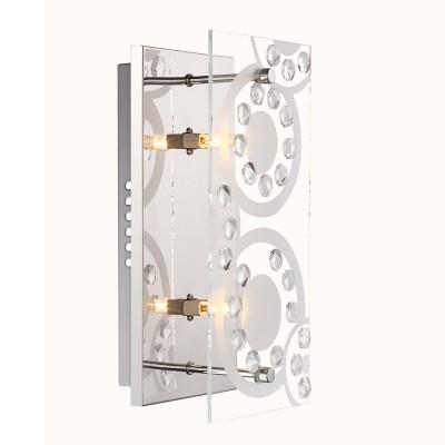Светильник бра Globo 48690-2 DianneПрямоугольные<br>Настенно-потолочные светильники – это универсальные осветительные варианты, которые подходят для вертикального и горизонтального монтажа. В интернет-магазине «Светодом» Вы можете приобрести подобные модели по выгодной стоимости. В нашем каталоге представлены как бюджетные варианты, так и эксклюзивные изделия от производителей, которые уже давно заслужили доверие дизайнеров и простых покупателей. <br>Настенно-потолочный светильник Globo 48690-2 станет прекрасным дополнением к основному освещению. Благодаря качественному исполнению и применению современных технологий при производстве эта модель будет радовать Вас своим привлекательным внешним видом долгое время. <br>Приобрести настенно-потолочный светильник Globo 48690-2 можно, находясь в любой точке России.<br><br>S освещ. до, м2: 6<br>Тип лампы: галогенная / LED-светодиодная<br>Тип цоколя: G9<br>Цвет арматуры: серебристый<br>Количество ламп: 2<br>Ширина, мм: 120<br>Длина, мм: 240<br>Высота, мм: 90<br>MAX мощность ламп, Вт: 33