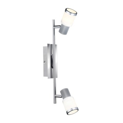 Светильник Globo 56031-2 Rivieraдвойные светильники споты<br>Светильники-споты – это оригинальные изделия с современным дизайном. Они позволяют не ограничивать свою фантазию при выборе освещения для интерьера. Такие модели обеспечивают достаточно качественный свет. Благодаря компактным размерам Вы можете использовать несколько спотов для одного помещения. <br>Интернет-магазин «Светодом» предлагает необычный светильник-спот Globo 56031-2 по привлекательной цене. Эта модель станет отличным дополнением к люстре, выполненной в том же стиле. Перед оформлением заказа изучите характеристики изделия. <br>Купить светильник-спот Globo 56031-2 в нашем онлайн-магазине Вы можете либо с помощью формы на сайте, либо по указанным выше телефонам. Обратите внимание, что у нас склады не только в Москве и Екатеринбурге, но и других городах России.<br><br>S освещ. до, м2: 3<br>Тип лампы: LED - светодиодная<br>Тип цоколя: LED<br>Цвет арматуры: серебристый<br>Количество ламп: 2<br>Длина, мм: 415<br>Расстояние от стены, мм: 145<br>Высота, мм: 145<br>Оттенок (цвет): белый<br>MAX мощность ламп, Вт: 5