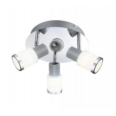 Люстра Globo 56031-3 RivieraТройные<br>Светильники-споты – это оригинальные изделия с современным дизайном. Они позволяют не ограничивать свою фантазию при выборе освещения для интерьера. Такие модели обеспечивают достаточно качественный свет. Благодаря компактным размерам Вы можете использовать несколько спотов для одного помещения. <br>Интернет-магазин «Светодом» предлагает необычный светильник-спот Globo 56031-3 по привлекательной цене. Эта модель станет отличным дополнением к люстре, выполненной в том же стиле. Перед оформлением заказа изучите характеристики изделия. <br>Купить светильник-спот Globo 56031-3 в нашем онлайн-магазине Вы можете либо с помощью формы на сайте, либо по указанным выше телефонам. Обратите внимание, что у нас склады не только в Москве и Екатеринбурге, но и других городах России.<br><br>S освещ. до, м2: 8<br>Цветовая t, К: 3200K<br>Тип лампы: LED - светодиодная<br>Тип цоколя: LED<br>Цвет арматуры: серебристый<br>Количество ламп: 3<br>Ширина, мм: 200<br>Диаметр, мм мм: 200<br>Расстояние от стены, мм: 135<br>Высота, мм: 135<br>Оттенок (цвет): белый<br>MAX мощность ламп, Вт: 5