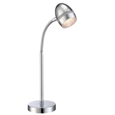 Настольная лампа Globo 56206-1T ManjolaНастольные лампы хай тек<br>Настольная лампа – это не просто источник дополнительного освещения, но и оригинальный элемент декора. Его можно установить в спальне, гостиной, кабинете и других комнатах. Интернет-магазин «Светодом» предлагает настольные лампы разных стилей по доступным ценам. Благодаря большому ассортименту Вы обязательно найдете в нашем каталоге именно ту модель, которую искали. <br> Настольная лампа Globo 56206-1T – прекрасный вариант для завершения интерьера. Ее можно включить одновременно с люстрой для более яркого освещения или без нее для создания уютной атмосферы, настраивающей на отдых. <br> Купить настольную лампу Globo 56206-1T Вы можете с помощью виртуальной «Корзины» или по контактным номерам, указанным на сайте.<br><br>Тип лампы: LED - светодиодная<br>Тип цоколя: LED<br>Цвет арматуры: серебристый<br>Количество ламп: 1<br>Ширина, мм: 255<br>Длина, мм: 255<br>Высота, мм: 430<br>MAX мощность ламп, Вт: 3