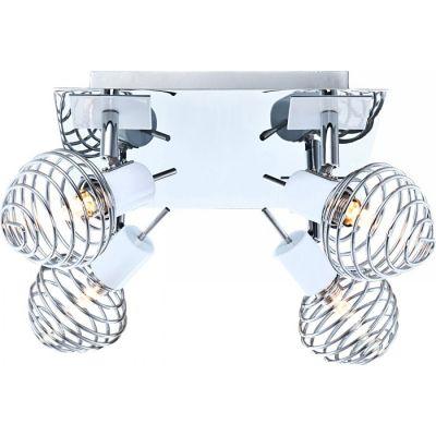 Люстра Globo 56632-4 WillowС 4 лампами<br>Светильники-споты – это оригинальные изделия с современным дизайном. Они позволяют не ограничивать свою фантазию при выборе освещения для интерьера. Такие модели обеспечивают достаточно качественный свет. Благодаря компактным размерам Вы можете использовать несколько спотов для одного помещения.  Интернет-магазин «Светодом» предлагает необычный светильник-спот Globo 56632-4 по привлекательной цене. Эта модель станет отличным дополнением к люстре, выполненной в том же стиле. Перед оформлением заказа изучите характеристики изделия.  Купить светильник-спот Globo 56632-4 в нашем онлайн-магазине Вы можете либо с помощью формы на сайте, либо по указанным выше телефонам. Обратите внимание, что у нас склады не только в Москве и Екатеринбурге, но и других городах России.<br><br>S освещ. до, м2: 8<br>Тип лампы: галогенная / LED-светодиодная<br>Тип цоколя: G9<br>Количество ламп: 4<br>Ширина, мм: 240<br>MAX мощность ламп, Вт: 33<br>Длина, мм: 240<br>Расстояние от стены, мм: 140<br>Высота, мм: 140<br>Оттенок (цвет): белый<br>Цвет арматуры: серебристый хром