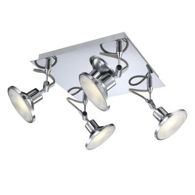 Светильник светодиодный 4*5Вт Globo 56953-4P Aaronспоты 4 лампы<br>Светильники-споты – это оригинальные изделия с современным дизайном. Они позволяют не ограничивать свою фантазию при выборе освещения для интерьера. Такие модели обеспечивают достаточно качественный свет. Благодаря компактным размерам Вы можете использовать несколько спотов для одного помещения. <br>Интернет-магазин «Светодом» предлагает необычный светильник-спот Globo 56953-4P по привлекательной цене. Эта модель станет отличным дополнением к люстре, выполненной в том же стиле. Перед оформлением заказа изучите характеристики изделия. <br>Купить светильник-спот Globo 56953-4P в нашем онлайн-магазине Вы можете либо с помощью формы на сайте, либо по указанным выше телефонам. Обратите внимание, что у нас склады не только в Москве и Екатеринбурге, но и других городах России.<br><br>S освещ. до, м2: 7<br>Тип лампы: галогенная / LED-светодиодная<br>Тип цоколя: LED<br>Цвет арматуры: серебристый<br>Количество ламп: 4<br>Ширина, мм: 280<br>Длина, мм: 280<br>Высота, мм: 150<br>MAX мощность ламп, Вт: 5