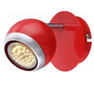 Светильник красный Globo 57885-1 OmanОдиночные<br>Светильники-споты – это оригинальные изделия с современным дизайном. Они позволяют не ограничивать свою фантазию при выборе освещения для интерьера. Такие модели обеспечивают достаточно качественный свет. Благодаря компактным размерам Вы можете использовать несколько спотов для одного помещения. <br>Интернет-магазин «Светодом» предлагает необычный светильник-спот Globo 57885-1 по привлекательной цене. Эта модель станет отличным дополнением к люстре, выполненной в том же стиле. Перед оформлением заказа изучите характеристики изделия. <br>Купить светильник-спот Globo 57885-1 в нашем онлайн-магазине Вы можете либо с помощью формы на сайте, либо по указанным выше телефонам. Обратите внимание, что у нас склады не только в Москве и Екатеринбурге, но и других городах России.<br><br>S освещ. до, м2: 2<br>Цветовая t, К: 3000<br>Тип лампы: накаливания / энергосберегающая / светодиодная<br>Тип цоколя: GU10 LED<br>Цвет арматуры: серебристый<br>Количество ламп: 1<br>Ширина, мм: 130<br>Длина, мм: 100<br>Высота, мм: 115<br>Поверхность арматуры: матовый, глянцевый<br>MAX мощность ламп, Вт: 3