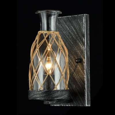 Бра Maytoni H099-01-B RappeРустика<br><br><br>Тип лампы: накаливания / энергосбережения / LED-светодиодная<br>Тип цоколя: E14<br>Цвет арматуры: Черный<br>Количество ламп: 1<br>Диаметр, мм мм: 150<br>Высота, мм: 250<br>MAX мощность ламп, Вт: 40W
