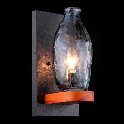 Светильник Maytoni H100-01-R House 4Рустика<br><br><br>S освещ. до, м2: 2<br>Тип лампы: накаливания / энергосбережения / LED-светодиодная<br>Тип цоколя: E14<br>Количество ламп: 1<br>Ширина, мм: 165<br>MAX мощность ламп, Вт: 40<br>Выступ, мм: 180<br>Расстояние от стены, мм: 180<br>Высота, мм: 350<br>Цвет арматуры: коричневый