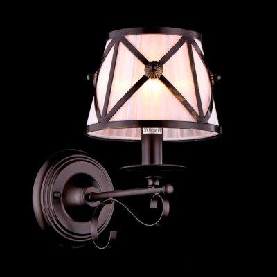 Светильник Maytoni H102-01-R House 2Рустика<br><br><br>S освещ. до, м2: 2<br>Тип лампы: накаливания / энергосбережения / LED-светодиодная<br>Тип цоколя: E14<br>Количество ламп: 1<br>Ширина, мм: 185<br>MAX мощность ламп, Вт: 40<br>Выступ, мм: 280<br>Расстояние от стены, мм: 280<br>Высота, мм: 280<br>Цвет арматуры: коричневый