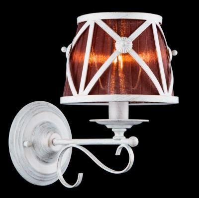 Бра Maytoni H102-01-W CountryКлассические<br><br><br>Тип лампы: накаливания / энергосбережения / LED-светодиодная<br>Тип цоколя: E14<br>Количество ламп: 1<br>MAX мощность ламп, Вт: 40<br>Диаметр, мм мм: 185<br>Высота, мм: 299<br>Цвет арматуры: белый