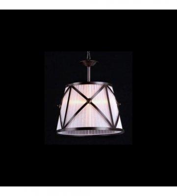 Светильник Maytoni H102-11-R House 2Одиночные<br><br><br>S освещ. до, м2: 4<br>Крепление: крючок<br>Тип товара: Подвесной светильник<br>Тип лампы: накаливания / энергосбережения / LED-светодиодная<br>Тип цоколя: E27<br>Количество ламп: 1<br>MAX мощность ламп, Вт: 60<br>Диаметр, мм мм: 320<br>Длина цепи/провода, мм: 1200<br>Высота, мм: 340<br>Цвет арматуры: коричневый